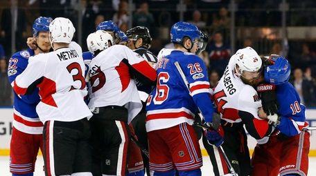 The New York Rangers and the Ottawa Senators