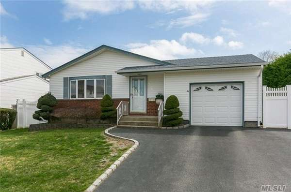 This Levittown ranch, listed for $429,000, includes three