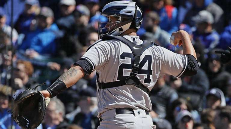 Gary Sanchez of the New York Yankees throws