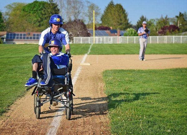 Mattituck High School Baseball Player Joe Tardif runs
