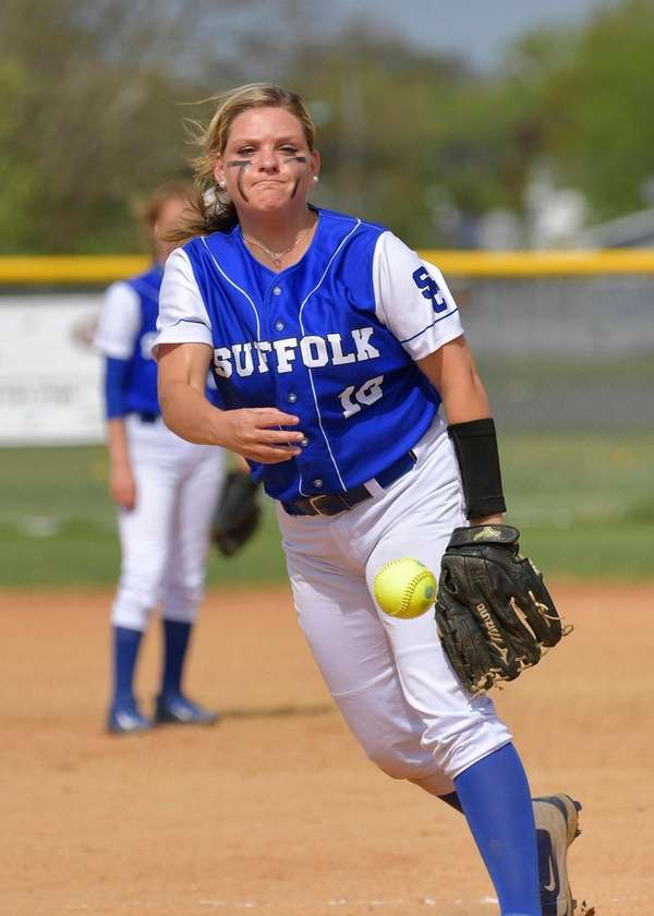 SCCC pitcher Cori Augustine delivers a strike during