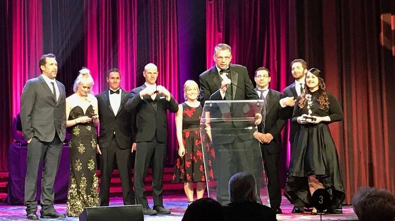 Robert Cassidy acknowledges the Emmy awarded to the