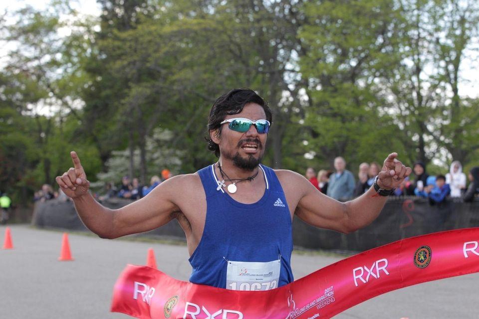 Narciso Mejia, men's winner of the 10k during