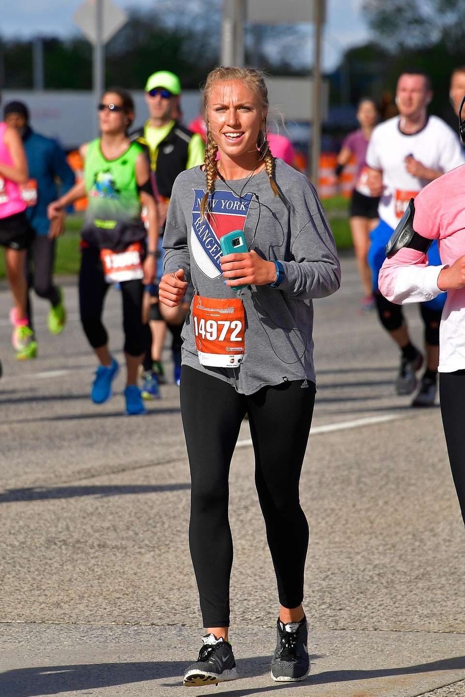 Chelsea Kull, 25, of Manorville, runs the half-marathon