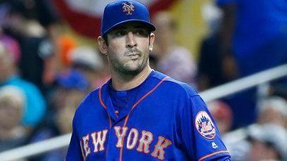 New York Mets starting pitcher Matt Harvey heads