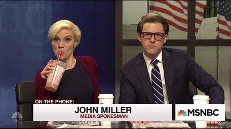 Kate McKinnon and Alex Moffat played MSNBC talk