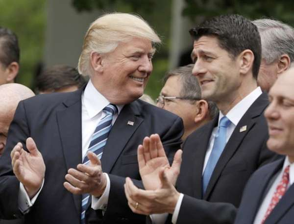 House Speaker Paul Ryan with President Donald Trump