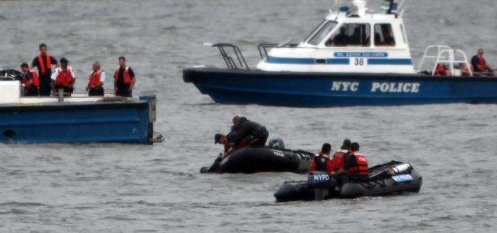 HOBOKEN, NJ - AUGUST 08: NYPD boats and