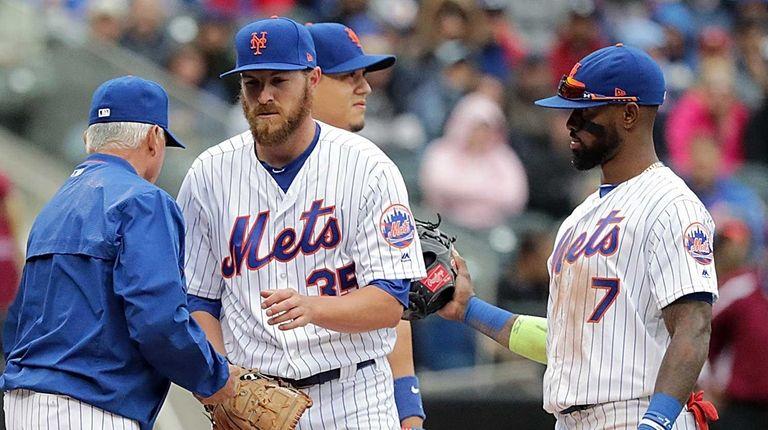 New York Mets starting pitcher Adam Wilk (35)