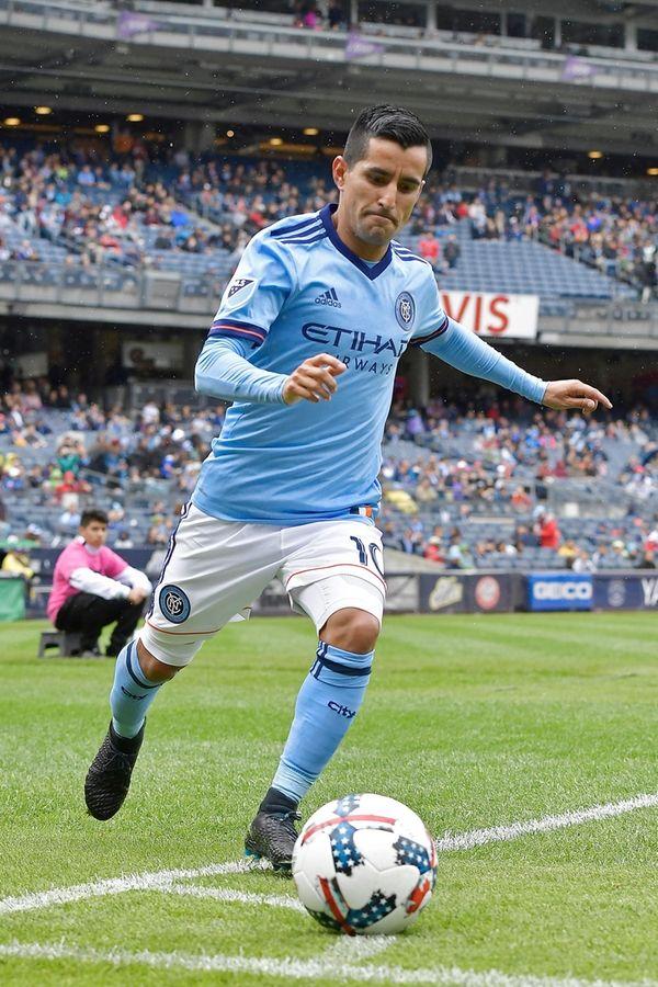 Maximiliano Moralez of New York City FC takes