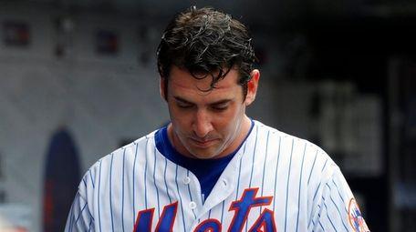 Matt Harvey, shown here in the dugout April