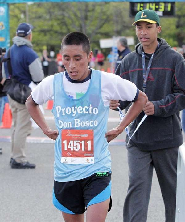 Wilson Damian Chavez Chox after completing the 2017