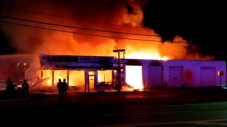 A vacant building in Lake Ronkonkoma that had