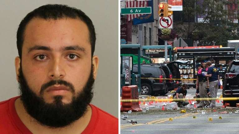 Accused Chelsea bomber Ahmad Rahimi is pictured during