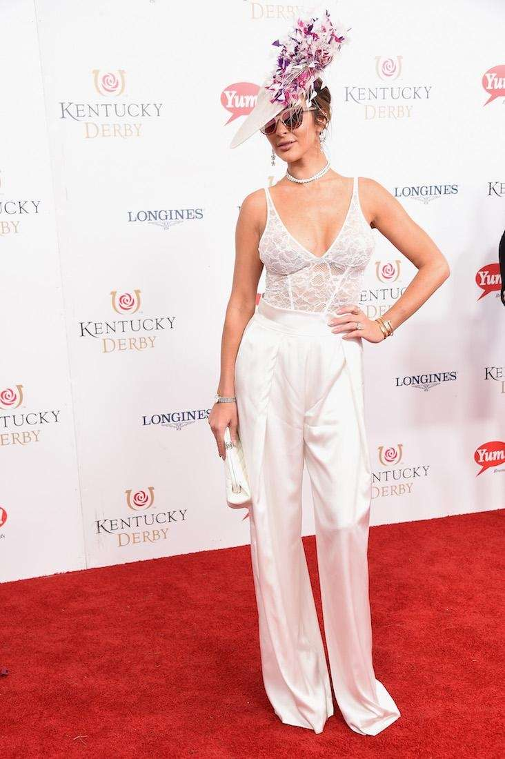 Courtney Sixx attends the 143rd Kentucky Derby at
