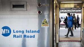 A Long Island Rail Road train is pictured