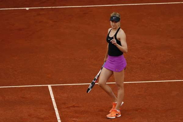Canada's Eugenie Bouchard reacts during her second round