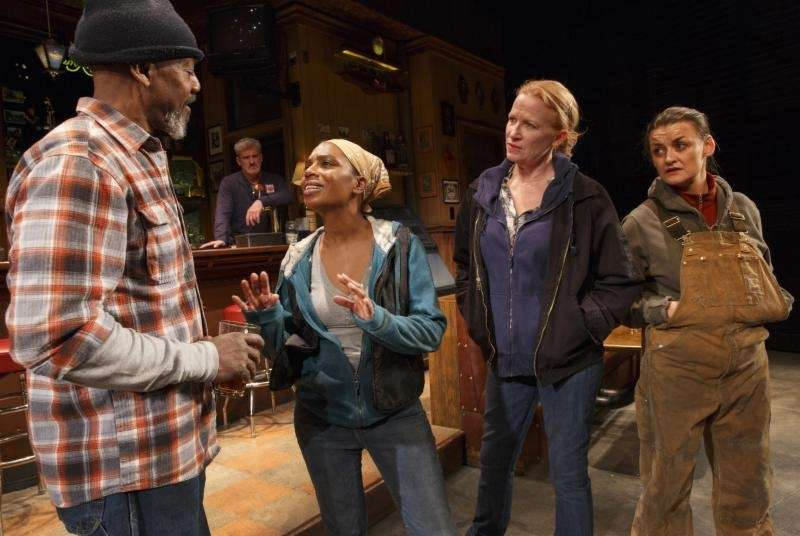 Alison Wright, far right, made her Broadway debut
