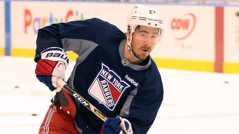 Rangers Ryan McDonagh during Rangers practice at MSG