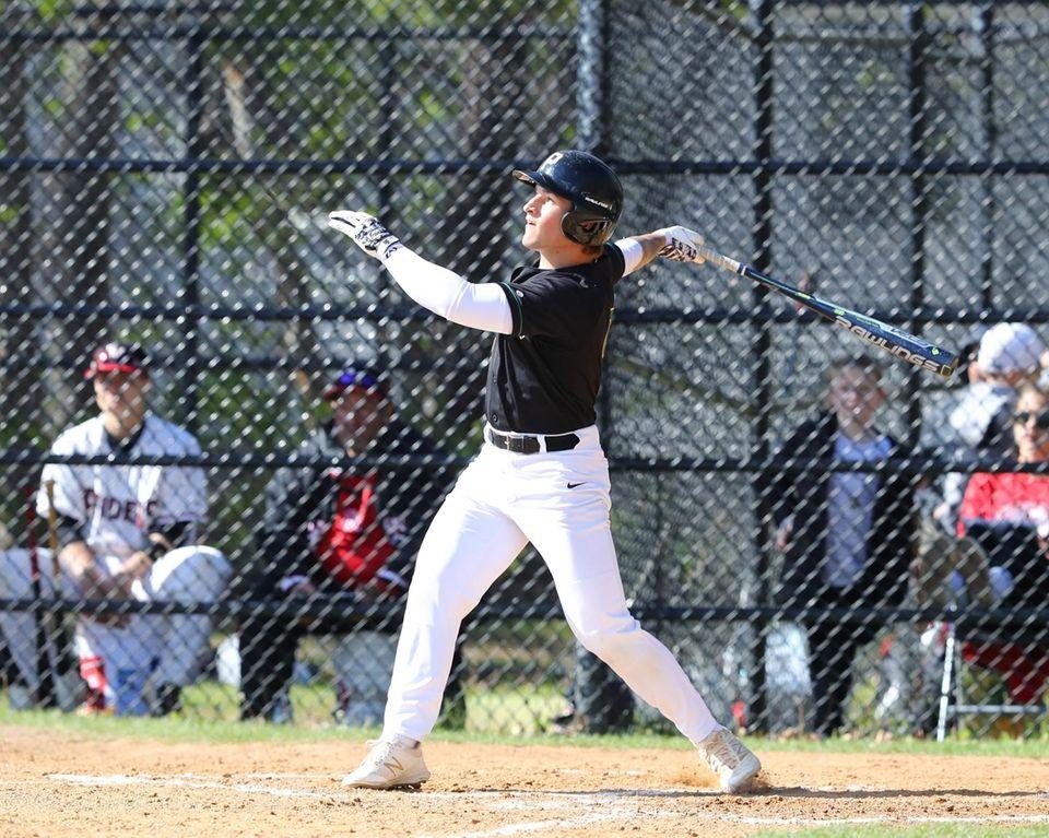 Ward Melville's Joseph Roselli hits a two-run homer