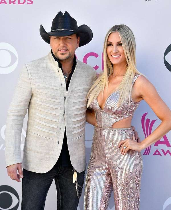 Jason Aldean and Brittany Kerr attend the 52nd