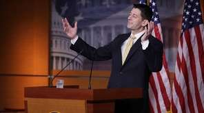 Speaker of the House Paul Ryan talks to