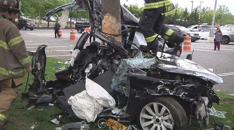 Two men were injured in a two-vehicle crash