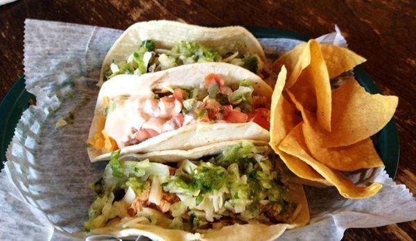 Multiple varieties of tacos are on the menu