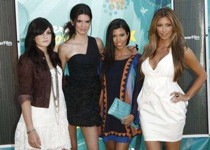 Sisters Kylie Jenner, Kendall Jenner, Kourtney Kardashian and