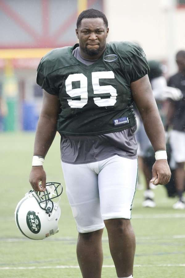 Jets defensive lineman Howard Green at training camp