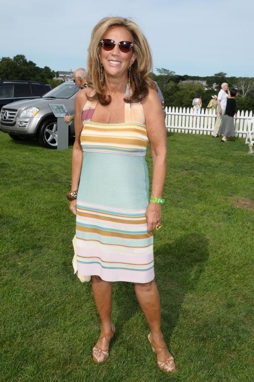 August 8:(l-r) Denise Rich attends the Mercedes Benz