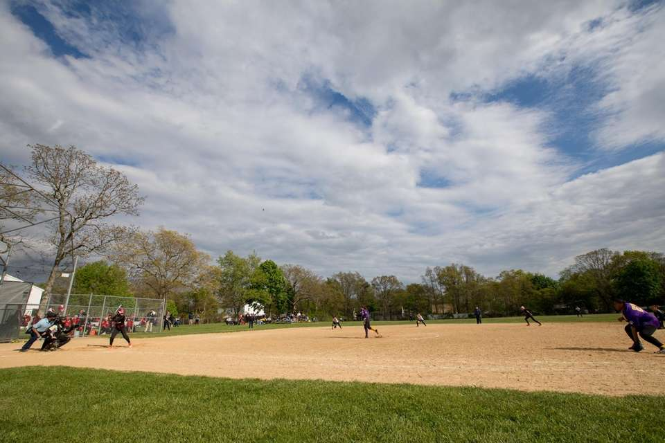 Central Islip varsity softball game against Connetquot High