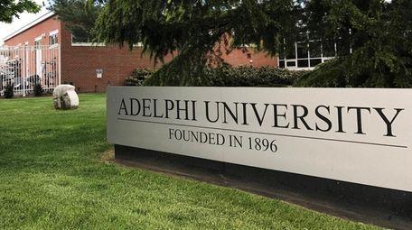 Adelphi University on Wednesday, May 10, 2017, in