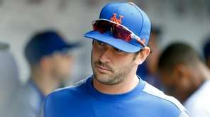 Matt Harvey of the New York Mets looks