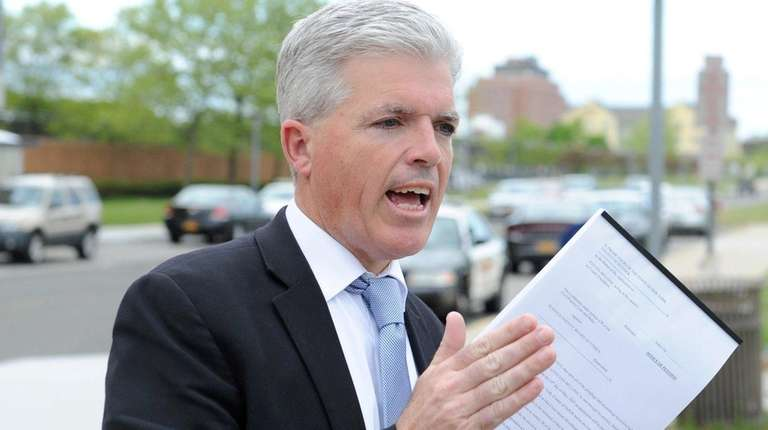 Suffolk County executive Steve Bellone, calls for the
