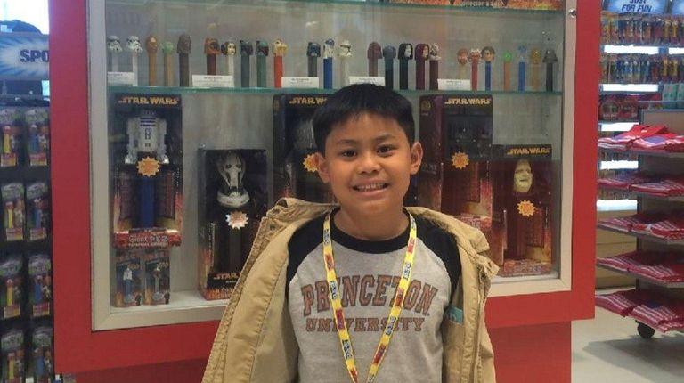 Kidsday reporter Gavin Gonzalez of Forest Hills at