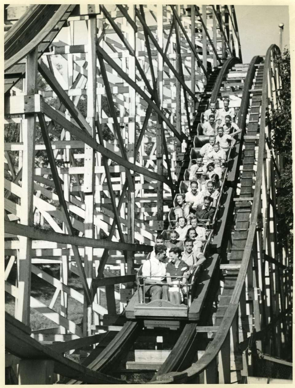 The current Wild Cat roller coaster was named