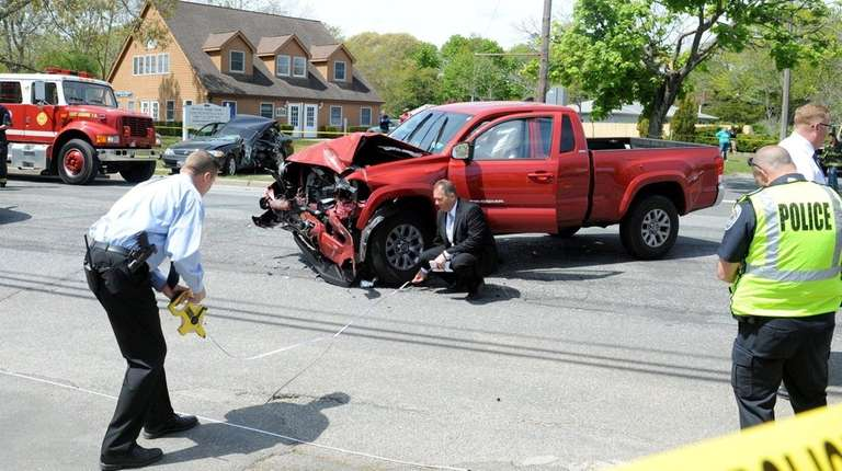 Two drivers from East Quogue were injured, one