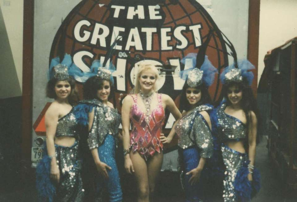 Me and the Flying Espana ladies in 1985.