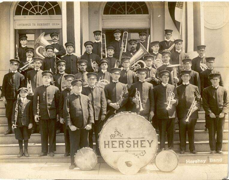 The Hershey Band played every evening during the