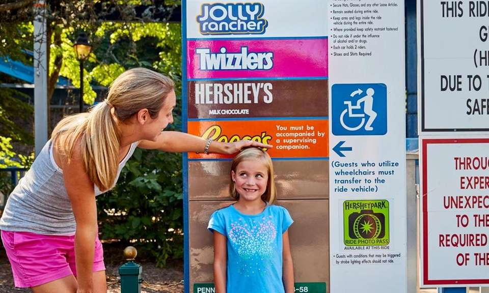 Hersheypark's height categories are named after Hershey's candy