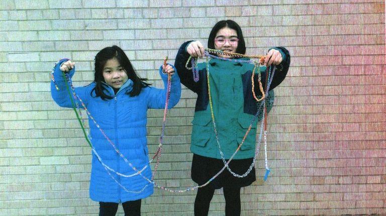Kidsday reporters Abigail Chang and Sabina Sadiq with