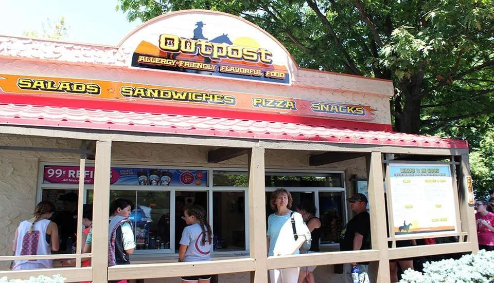 The Outpost is a food stand that offers