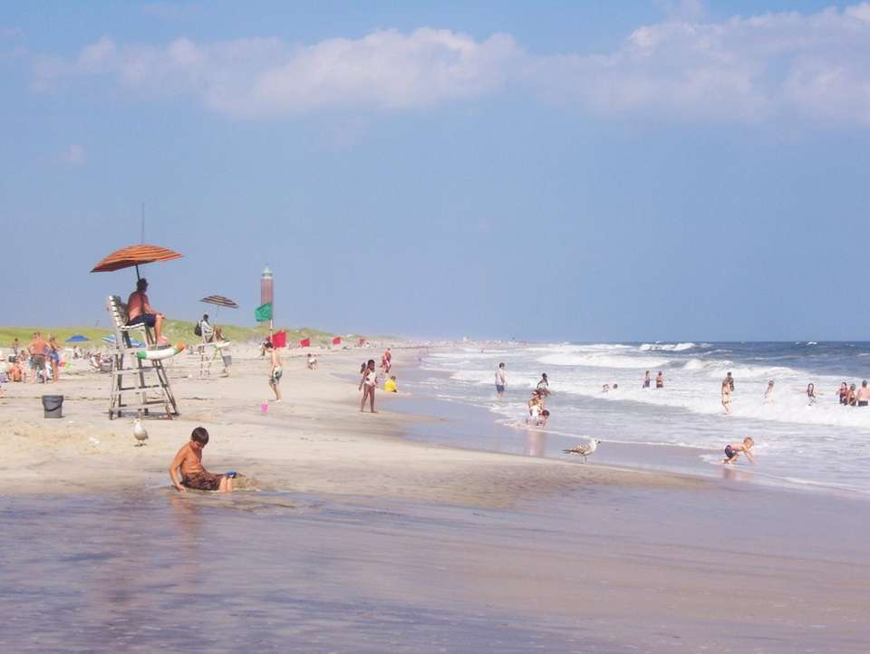 A sunny day at Robert Moses State Park