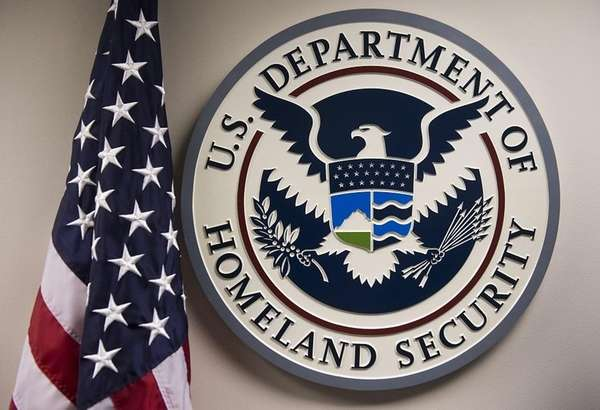 The U.S. Department of Homeland Security logo is