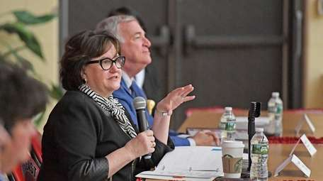 New York State Education Commissioner MaryEllen Elia, with
