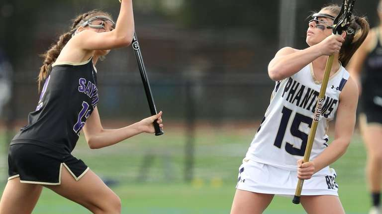 Sayville's Brooke Hoss and Bayport-Blue Point's Courtney Weeks