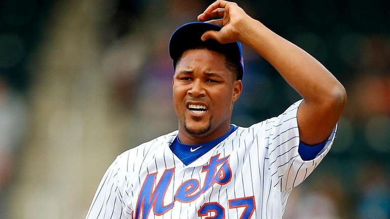 Jeurys Familia of the New York Mets stands