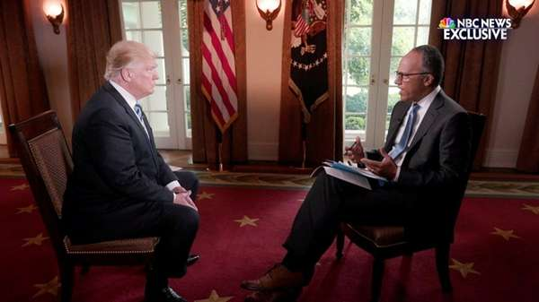 NBC News' Lester Holt sat down for an