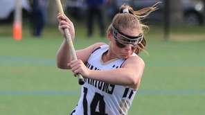 Bayport-Blue Point's Cassidy Weeks takes a shot on